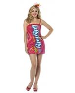 Laffy Taffy Tube Dress Cherry