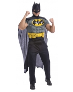 Batman Muscle Shirt Cape Adt
