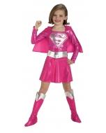 Supergirl Pink Child Medium