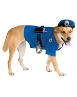 Pet Police Costume Large