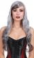 Wig Long Wavy Gray Dark Gray O