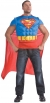 Superman Muscle Shirt Cape Adt