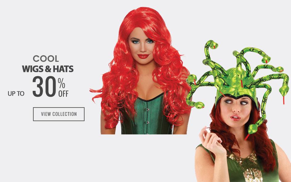 halloween wigs & hats